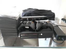 Vendo Xbox360 destravado+ Kinect + 33 jogos