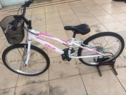 Bicicleta Aro 24 Caloi Branca