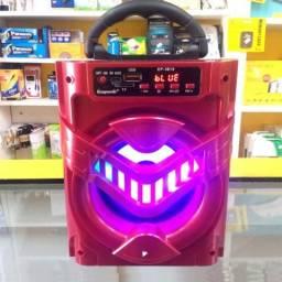 Caixa de Som Ecopower EP-3819 - Usb - Cartao Sd - Bluetooth