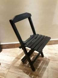 Título do anúncio: Cadeira dobrável de madeira