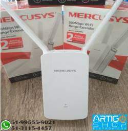 Repetidor Extensor Sinal Wifi 2 Antenas Mercusys 300Mbps - Produto de Qualidade