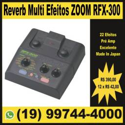 Reverb, Câmera de Eco, Delay Multi Efeitos para Voz, Guitarra ou Mesa de Som Zoom RFX-300