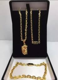 Alianças folhadas a ouro varios modelos com pingente, fina grossa etc