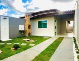 JP linda casa nova com 2 quartos,2 suites, coz. americana 100% nascente