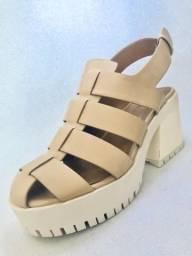 Sandália Tratorada Tiras Zara N 37 (usada apenas uma vez)
