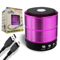 Caixa Som Bluetooth 5w Sd/p2/usb CORES DIVERSAS