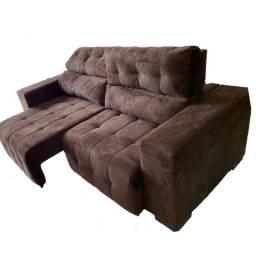Sofá 3 lugares retrátil e reclinável 2,25mts