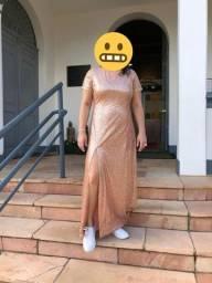 Vestido de festa rose gold G