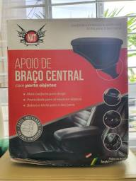 Encosto Descanso de Braço New Fiesta Hatch/Sedan Mexicano 11 a 13 Preto Couro