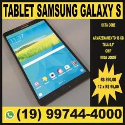 """Tablet Samsung Galaxy S 8,4"""" 4G Com Chip, Serve como Celular, Roda Jogos e Apps Pesados"""