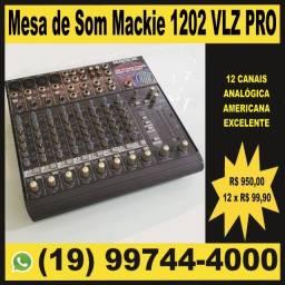 Mesa de som mixer mackie 1202 vlz pro excelente estado em perfeito funcionamento