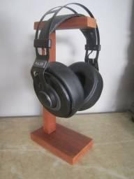 Suporte de headset headphone headfone gamer madeira