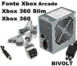 Fonte AtxPc Bivolt 110v/220v para Todos os Xbox Funciona Perfeitamente com Garantia