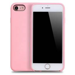 Capinha Silicone Aveludada por dentro para Iphone7 7 Plus 8 E 8 Plus