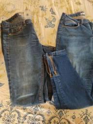 Vendo as duas calças jeans femininas por 35,00