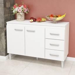 Balcão de cozinha branco madeira novo promoção entrego