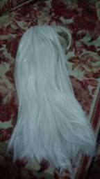 Peruca branca cosplay