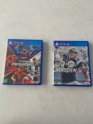 Jogos PS4 PES 2020 e Madden 17