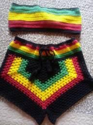 Conjunto Reggae de croche