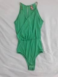 Body verde, tamanho M