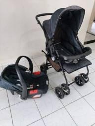 Carrinho + bebê conforto burigotto! Mamãe Canguru nunca usado + esterilizador de chupeta.