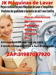 Peças e acessórios para máquinas de lavar