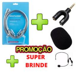 Kit Microfone C/ Fio Headset Cabeça Noa24 Conferência Calcenter