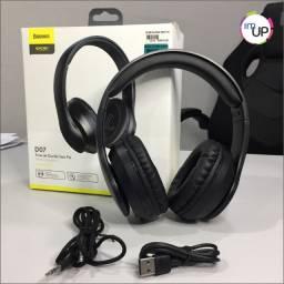 Fone de ouvido Headfone Baseus D07 Wireless Encok com Fio Removível-Produto novo