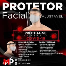PROTETOR FACIAL AJUSTAVEL CRISTAL COVID19