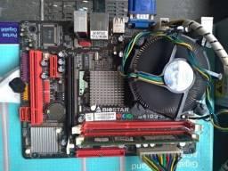 Placa mae biostar g4ld3c  775  ddr3  + processador   vendo ou troco