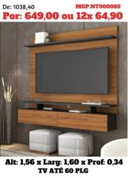 Painel de televisão até 60 Plg-Painel Sala de Estar- Grande-Prorrogado Desconto em MS