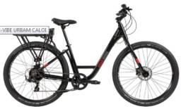 Bicicleta Elétrica Caloi E-Vibe Urbam Aro 27,5 com Motor ETM-HUBX2 - Preta