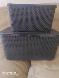 2 caixas organizadora produto novo.