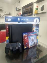 PS4 Slim 1TB + 2 Jogos - Loja Física - Aceitamos Cartões em até 12x