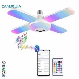 Lâmpada musical RGB Bluetooth,  amplificada