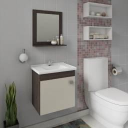 Gabinete para Banheiro com Pia e Espelheira Íris