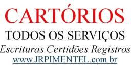 Cartórios Todos Serviços: Escrituras Certidões Firmas Registros Baixas Averbar Procuração