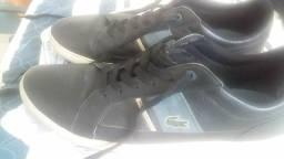 Tênis Lacoste original de couro preto original