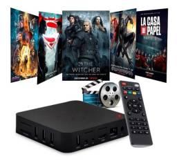 Tv Box transforma sua tv em smart Tv acesso à internet e vários filmes e séries