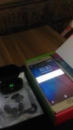 Moto G5S em estado de novo, com fone Bluetooth NOVO!