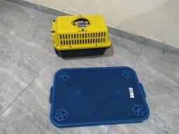 Caixa de transporte e sanitário canino