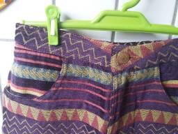 Short em veludo estampa étnica da marca Dress To tamanho 36