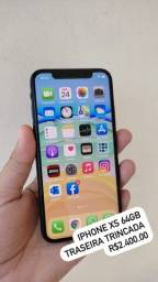 iPhone Xs 64GB - Traseira Trincada