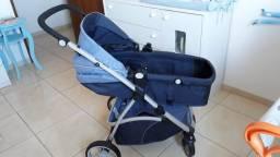 Carrinho de Bebê Moises Dzieco + Bebê Conforto Galzerano + Base Cocoon Galzerano