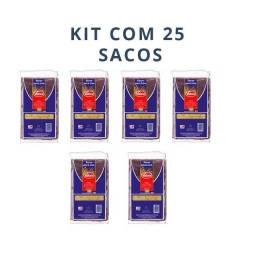 Saco Para Lixo Valore Preto 100litros Kit Com 25 Sacos