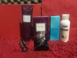 Vendo kit Avon perfume Rare Flowers, cremes, batom (Vai de Brinde brinco)
