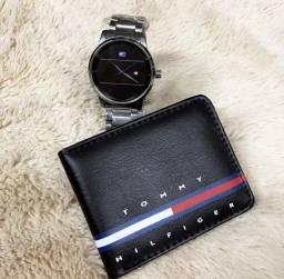 Kit relógio e carteira disponível