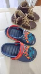 Combo sapato e sandalha