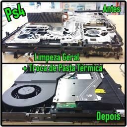Não Queime seu Console! Limpeza e Troca Pasta Termica Ps4 Playstation 4