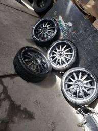 Jogo de rodas aro 20 com pneus